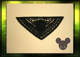 """Applicatie """"driehoek"""" / zwart"""