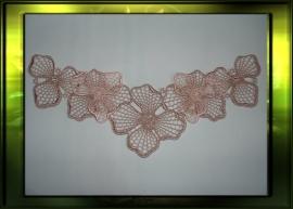 Dubbel layered applicatie / beige met zacht roze