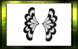 """Applicatie """"Wings"""" set L+R / zwart"""