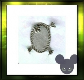 Turtle zetting / oud zilver