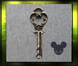 Zilver  sleuteltje 4 / oud zilver