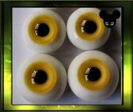 Glazen ogen -Yellow /6,8 mm