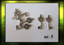 Zilver sleutel nr. 5