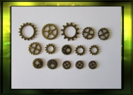 Bronze steampunk gears set / small nr. 1