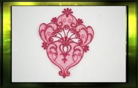 Ornate applicatie/ fuksja roze