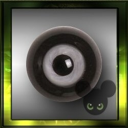 Glazen ogen - Black / 6,8,10,12 mm