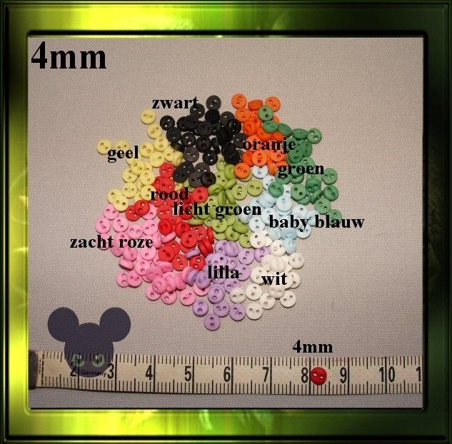 Mini knoopjes / 4mm set  20 stuks
