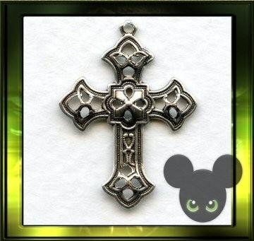Filigraan kruisje / oud zilver