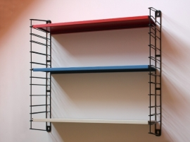 Tomado wandrek roodblauwwit / Tomado wall rack red blue white [verkocht]