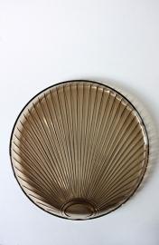 Glazen art deco serveerschaal / Glass art deco serving plate [sold]