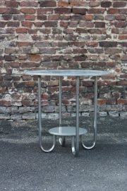 Chroom buisframe tafeltje `50 / Chrome tube frame table `50 [verkocht]