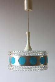 Sixties hanglamp blauw / Sixties hanging lamp blue [verkocht]
