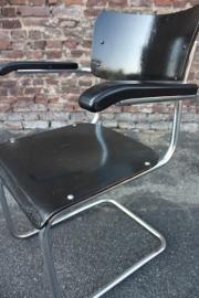 Buisframe metaal-hout bureaustoel / Tube frame metal-wood Chair [verkocht]
