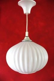 Hanglamp ribbelglas `60 / Pendant ringled glas retro `60 [verkocht]