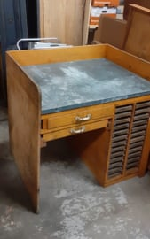 Drukkerij tafel / Printers Table