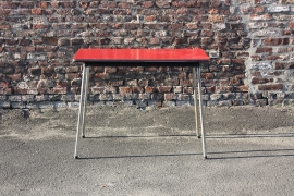 Rode vintage keukentafel / Red vintage kitchen table [sold]