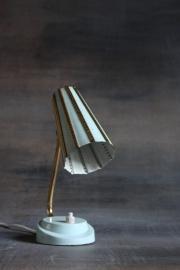 Romantisch mintwit bedlampje / Romantic offwhite bedlamp [verkocht]