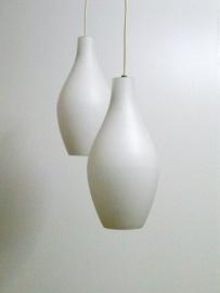 Opaal hanglampen scandinavisch /  Opal pendant lamps scandinavian [sold]
