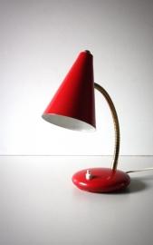 Rood lampje met bolletje / Red small globed lamp [verkocht]