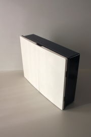 Wandkast bakeliet tweedeurs / Wall cabinet bakelite two doors