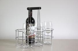 Flessenrekje verchroomd / Bottles rack chrome [sold]