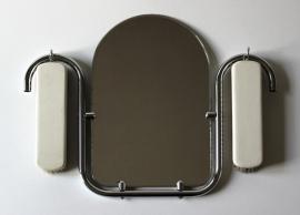 Buisframe vintage spiegeltje / Tubeframe vintage mirror