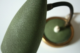 Groen fifties vintage bedlamp / Green vintage fifties bedside lamp [verkocht]