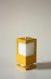 Geel Vierkant `70 Bedlampje / `70 yellow bedlamp [verkocht]