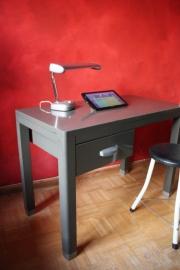 """Bureautje metaal """"Metalcub"""" / Smal metal desk """"Metalcub"""" [sold]"""
