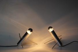 """2 Raak `Krekel` tafellampen /  2 """"Raak Krekel"""" table lamps [verkocht]"""