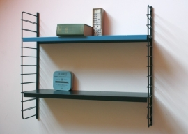 Tomado wandrek blauw-zwart / Tomado wall rack blue-black [verkocht ]