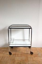 Serveerwagentje chroom/ Serving trolley chrome