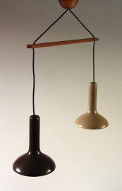 Dubbele hanglamp deense stijl / Danisch style hanging lamp [verkocht]