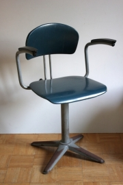 Ahrend bureaustoel blauw / Ahrend desk chair blue (verkocht)