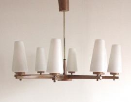 Scandinavische hanglamp in hout / Scandinavian pendant light in wood