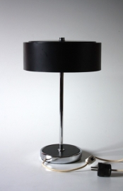 Metalen zwarte bureaulamp / Metal black desk lamp [sold]