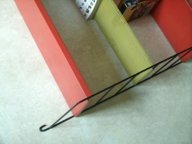 Tomado metalen wandrekje `50 / Tomado colorfull metal wall shelf `50 [verkocht]