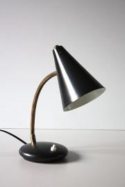 Zwart lampje met bolletje / Black small globed lamp [sold]