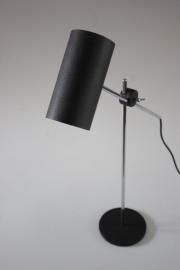Zwarte cilinder bureaulamp /  Black cylinder desklamp [sold]