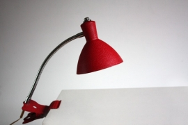 Rood flexibel klemlampje / Red flexible clip lamp [sold]