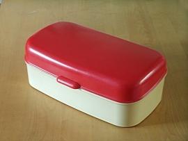 Rood witte `60 broodtrommel / Red white `60 bread bin [verkocht]