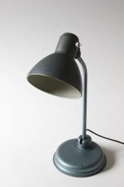 Staalblauwe vintage bureaulamp / Steelblue vintage desk lamp [sold]