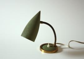Groen fifties vintage bedlamp / Green vintage fifties bedside lamp [verkocht]