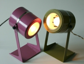 Space-age bureau lampjes /  Space -age desk lamps [sold]