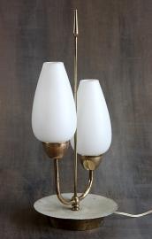 Brocante duo tafellamp `50 / Brocante duo table lamp `50 [sold]