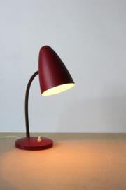 Rode kleine Bureaulamp /  Red Small Desklamp