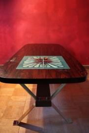 Salontafel met kunsttegels `60/ Coffee table with art tiles `60