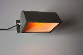 Doka lamp hamerslag / Darkroom lamp hammer painted [verkocht ]