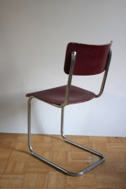 Rode buisstoel / Red tube chair [sold]