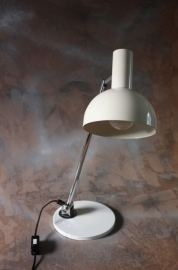 bureaulamp wit chrome / desk lamp white chromium